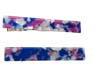 Purple and Blue Resin Hair Clip 2 Pack
