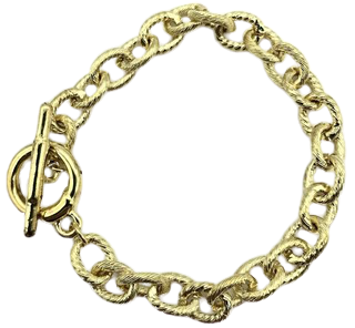 Gold T Bar Chain Bracelet