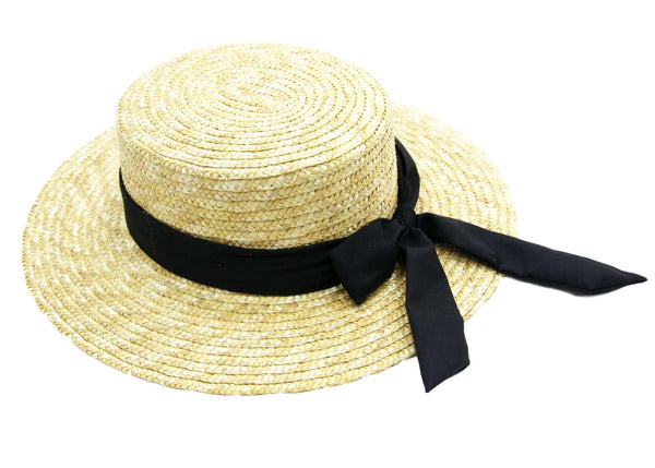 Cream Thick Straw Wheat Boater