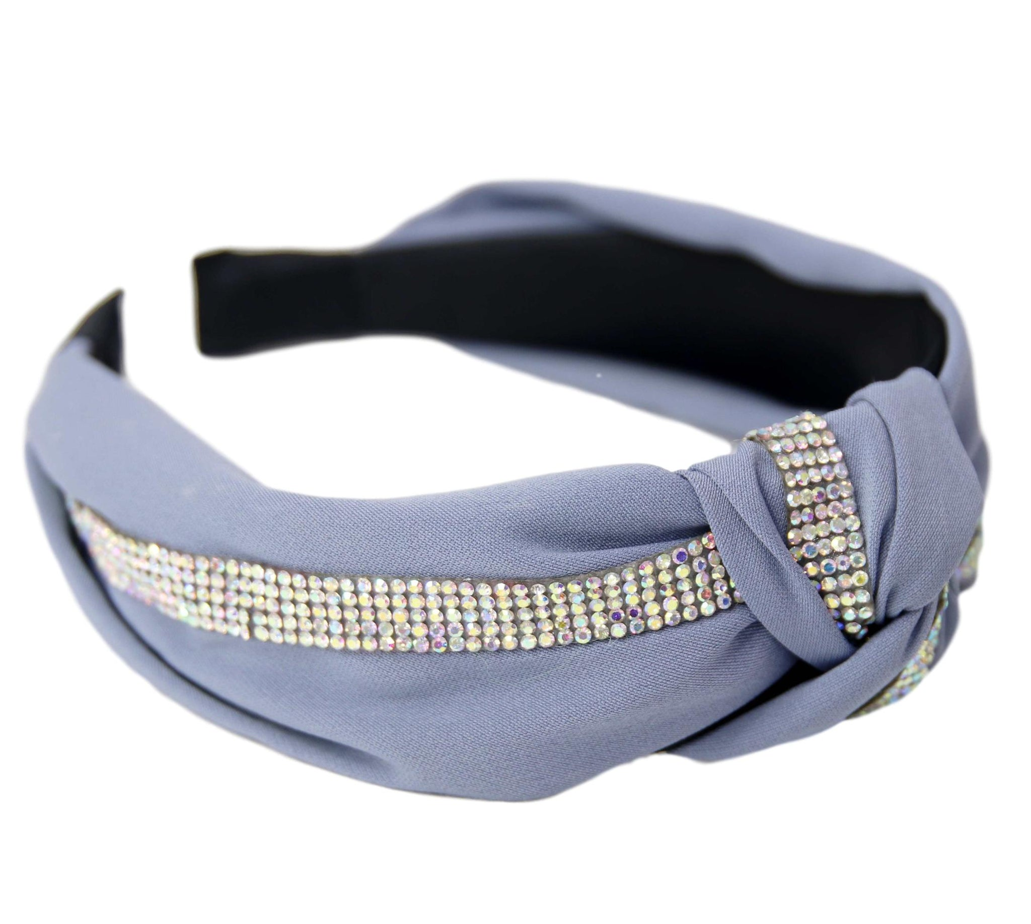 Blue Diamante Knot Headband