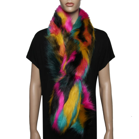 Multi Faux Fur Scarf