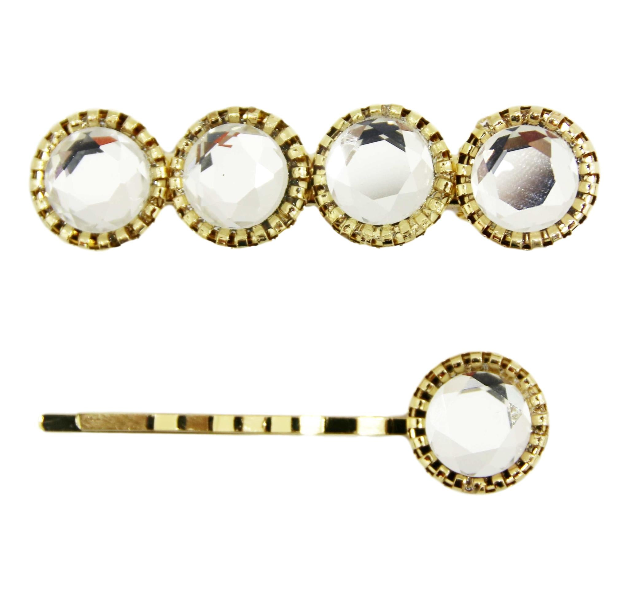 2 pc gem hair slide