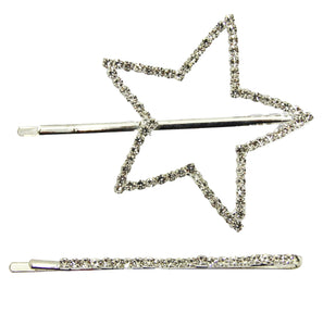 Diamante Star And Slide  Hair Clip