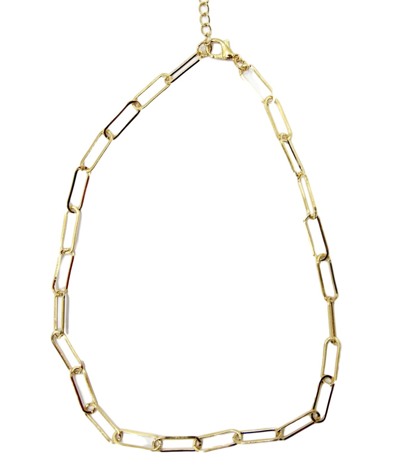 Gold Chain Detail Necklace