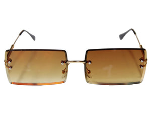 Frameless Rectangle Lens Sunglasses