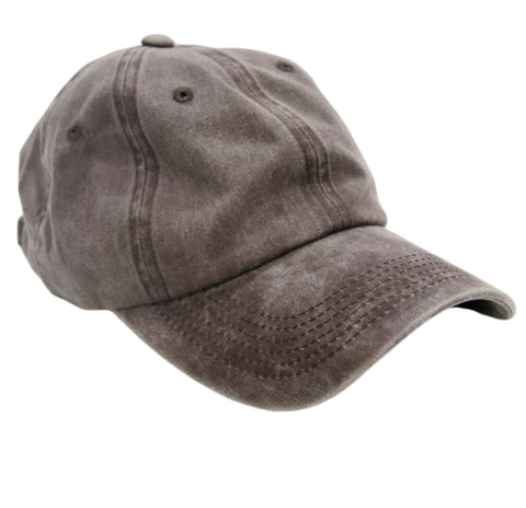 Mink Washed Denim Cap