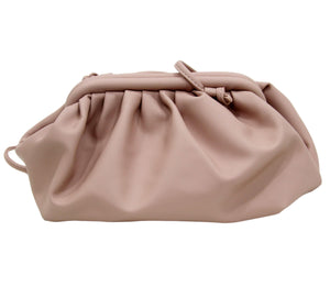 Blush Gathered PU Bag