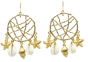 Dream Catcher Shell Earrings