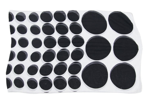 White and Black Polka Scarf