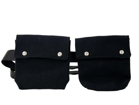 Black Double Belt Bag