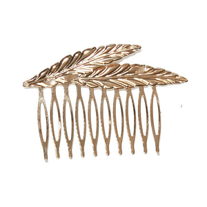 Feather Shaped Hair Comb