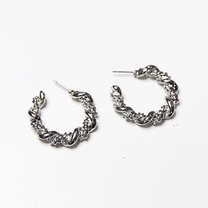 Chunky Twist Chain Hoops