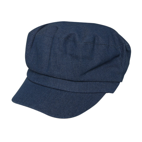 Blue Denim Baker Boy Hat