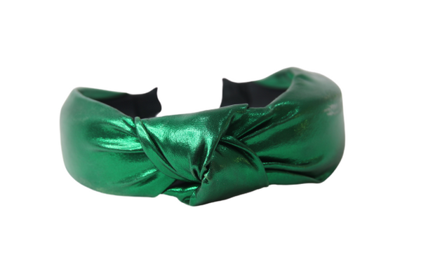 Green Metallic Pu Headband