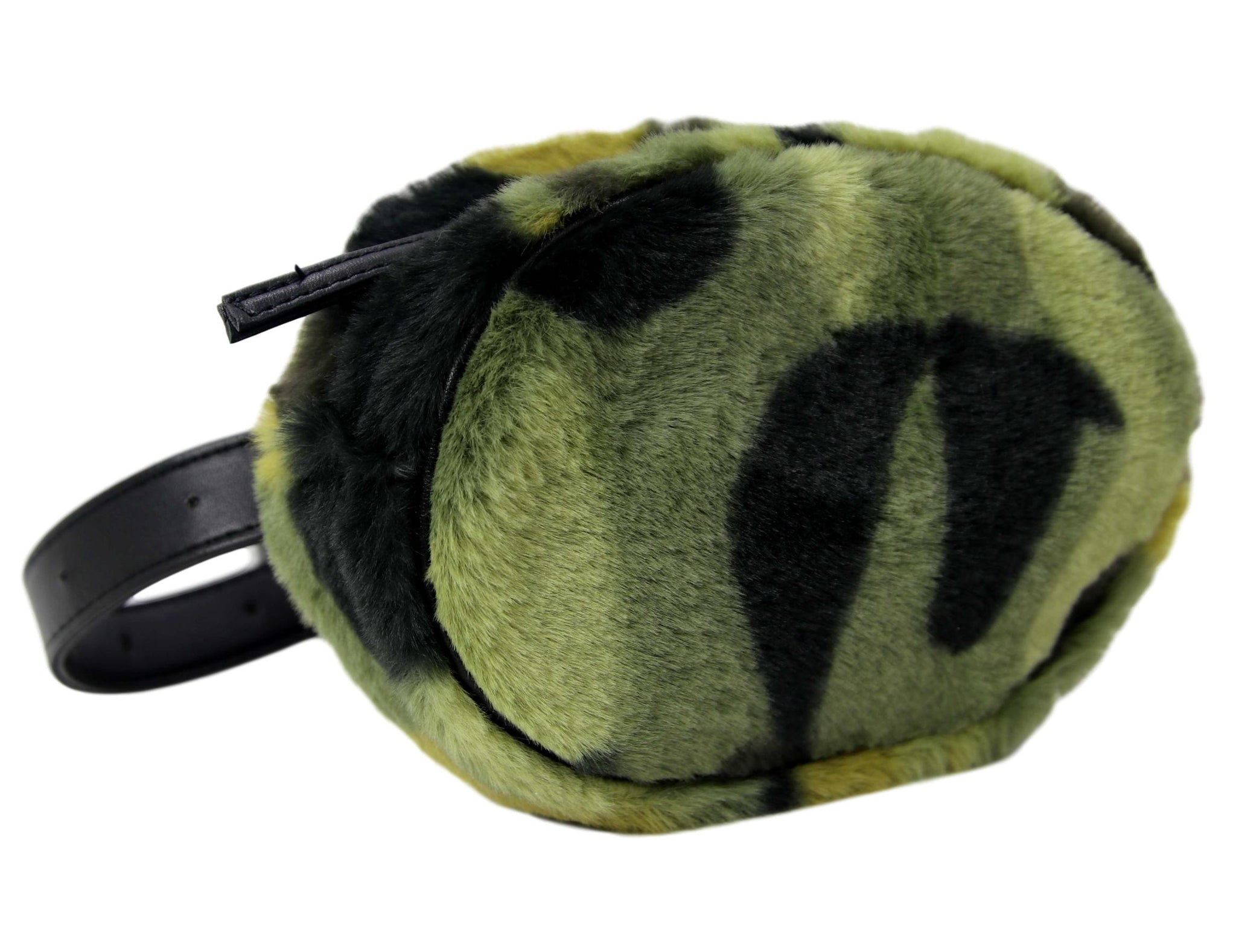 Camo Faux Fur Belt Bum Bag