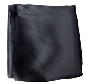 Black  Plain Sateen Square Scarf