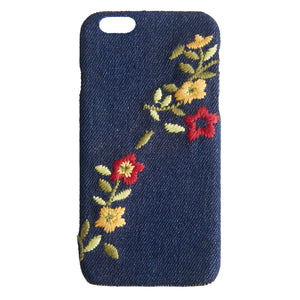 Embroidered Denim iPhone 8 Case