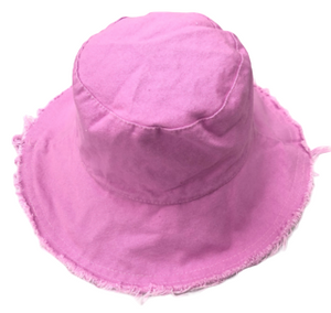 Lilac Frayed Edge Bucket