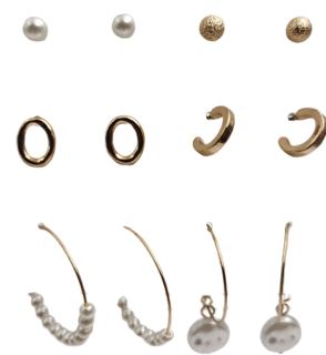 Gold Earring Multi Pack