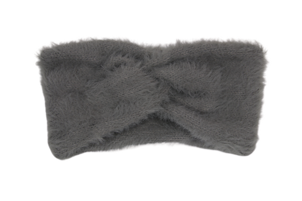 Grey Faux Fur Headband
