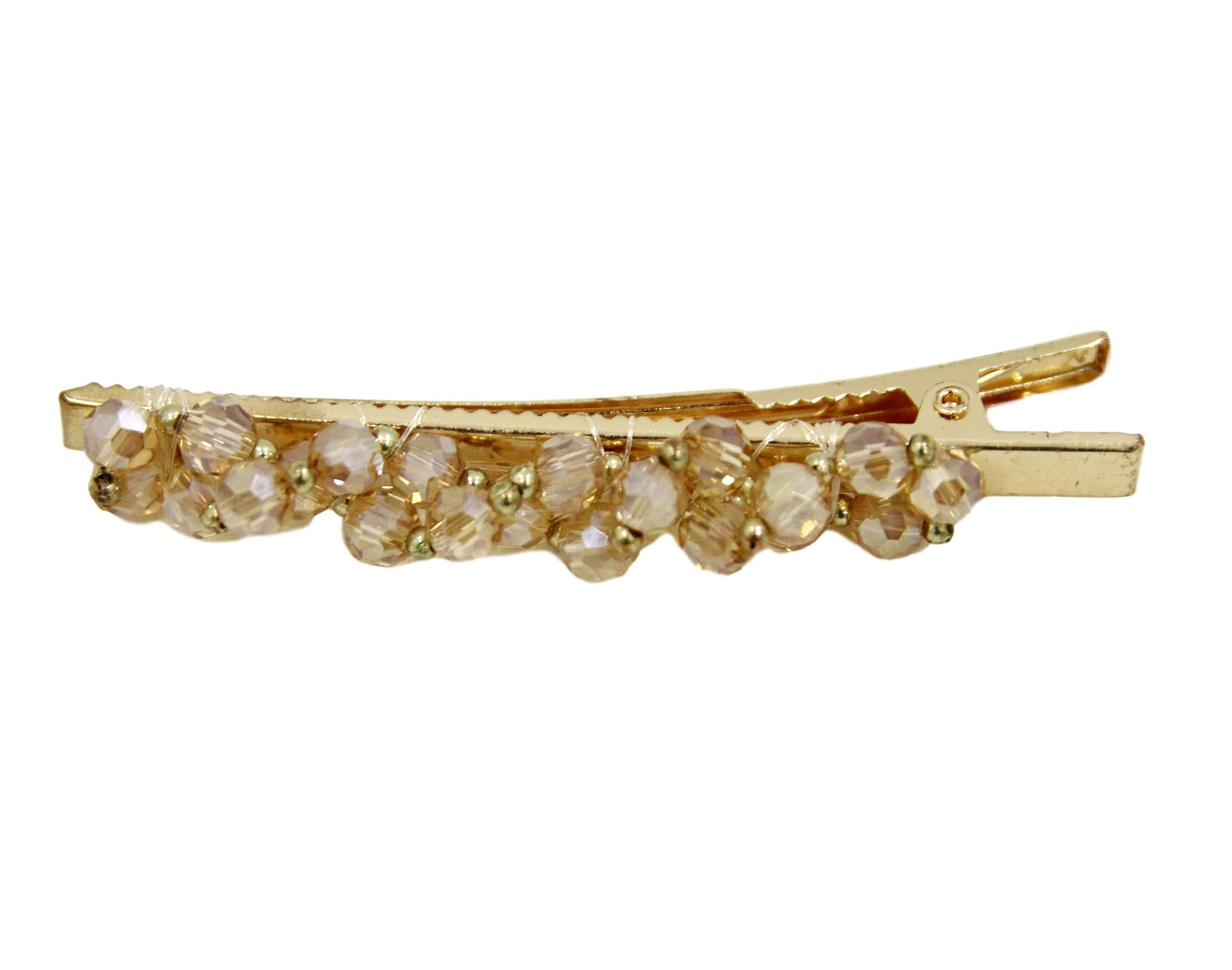 Gold Crystal Beads Hair Clip
