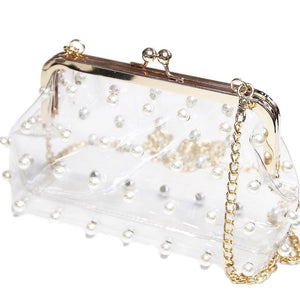 Clear Bag With Pearls