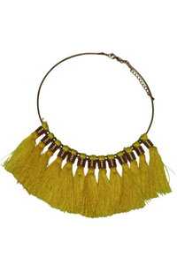 Circle necklace with tassels