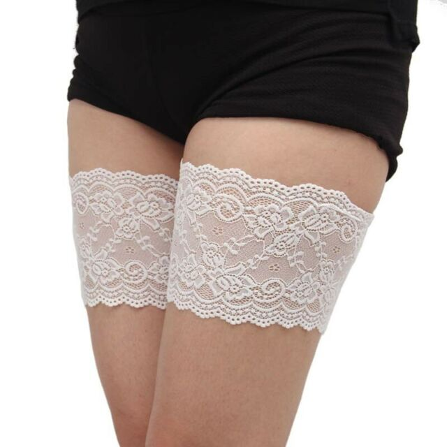 White Lace Chafing Pads L