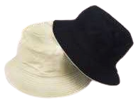 Cream and Black Reversible Bucket Hat