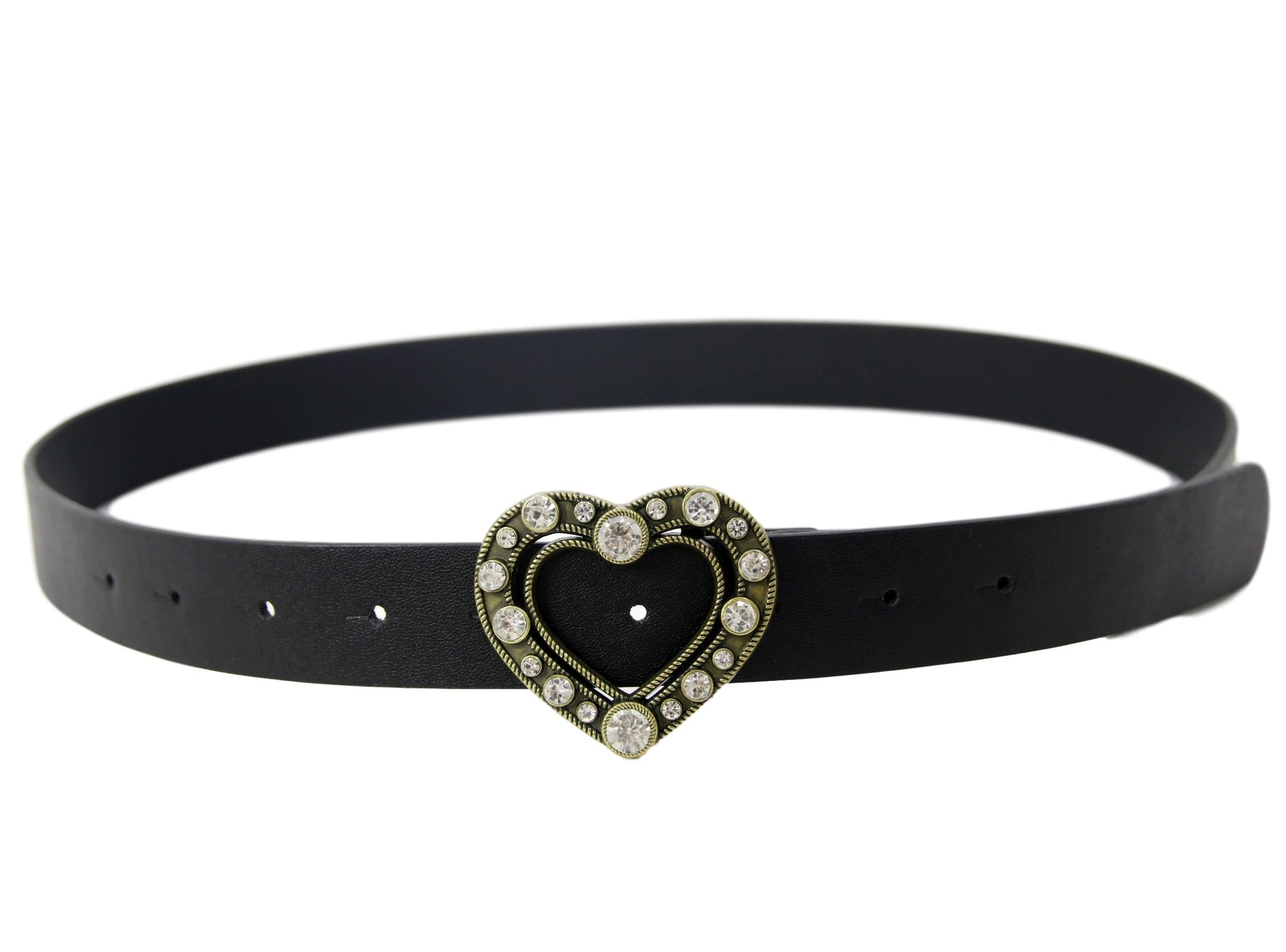 Heart diamante belt
