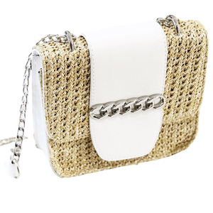 Straw Bag With Chain
