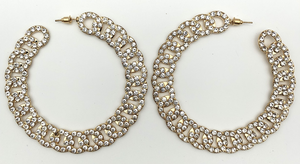 Diamante Chain Hoops