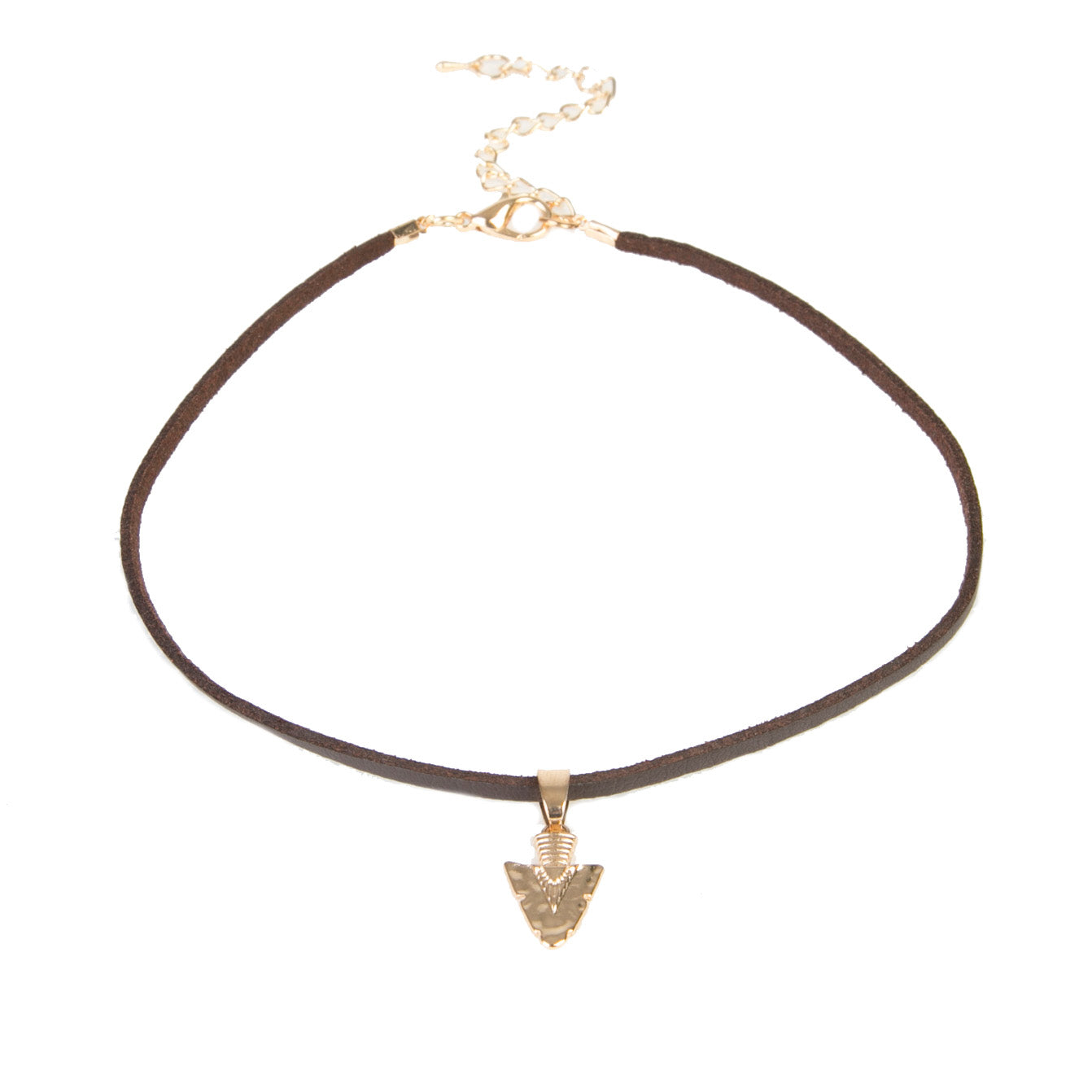 Thin PU Choker with arrowhead detail