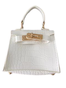 White Mini Bag with Chain