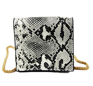Natural Snake PU Snake Mini Shoulder Bag