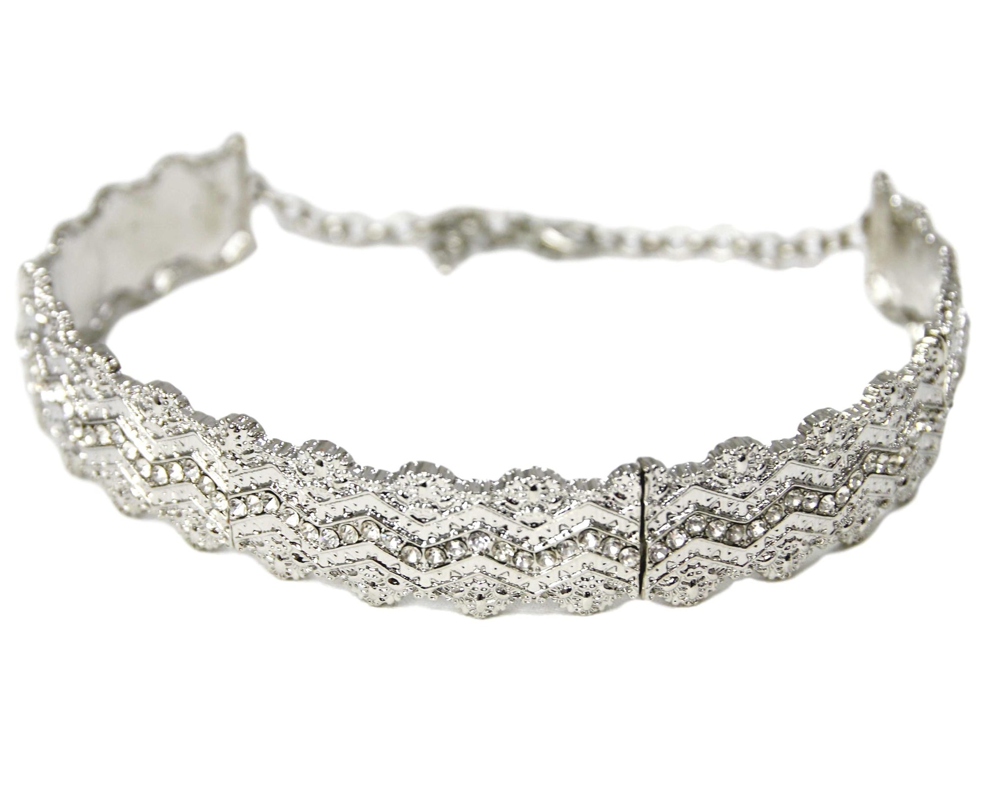 Thick metal choker with diamante