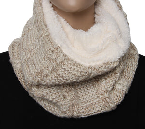 Cream Thick Knitted Snood