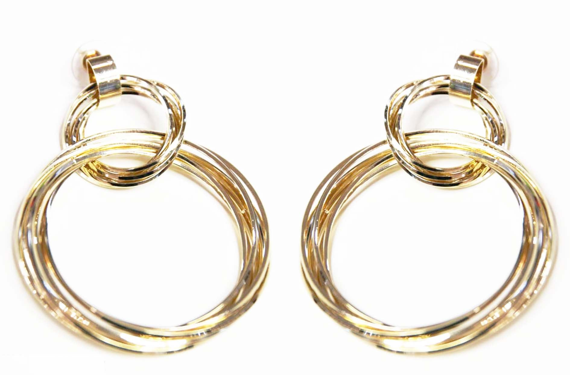 Gold Multi Circle Earrings