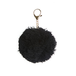 Knitted Pom Pom Key Ring