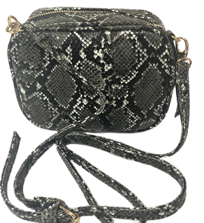 Snake skin cross body bag