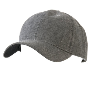 Grey Denim Baseball Cap