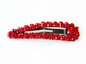 Red Stone Cluster Hair Clip
