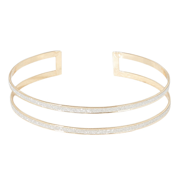 Double layered wrap around sparkly choker
