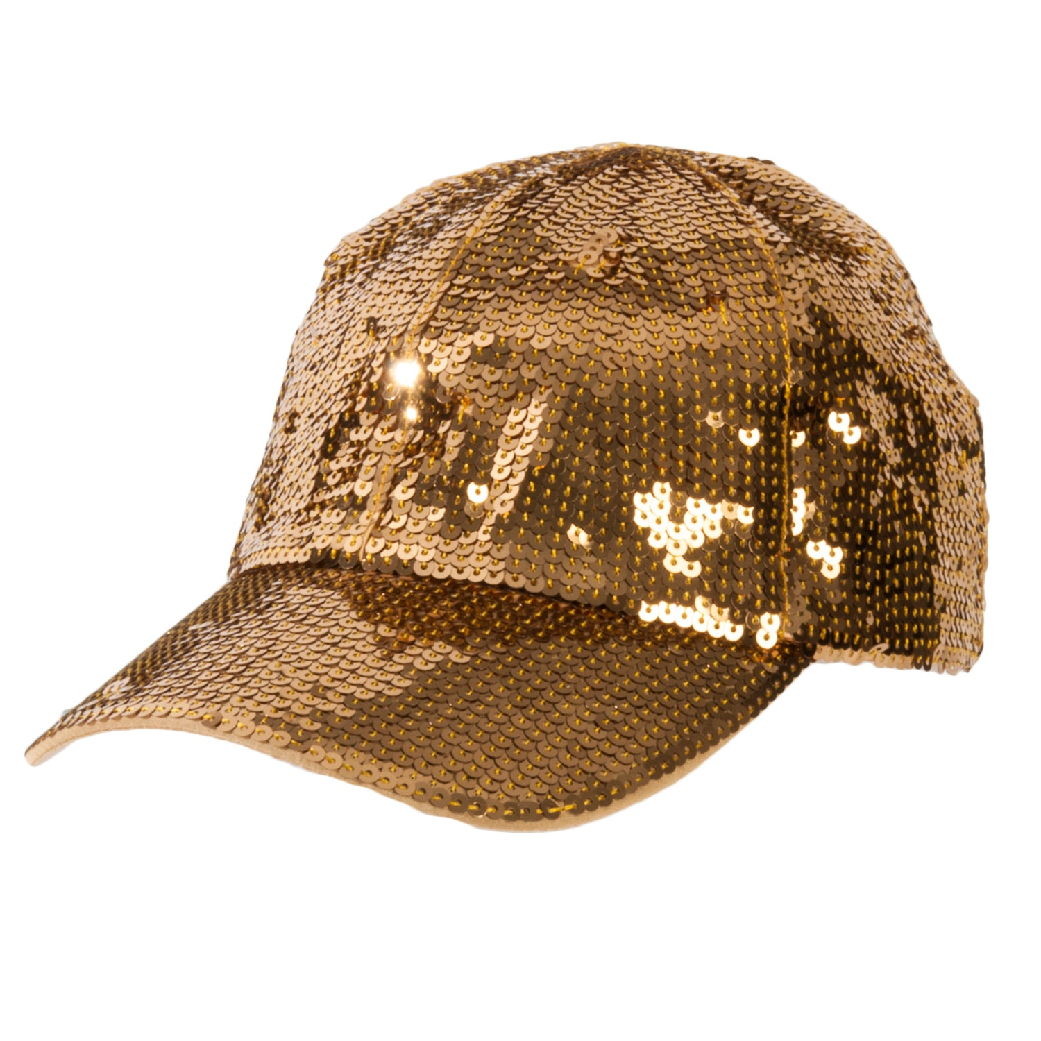 Gold Sequin Cap