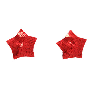 Red Sequin Star Nipple Cover