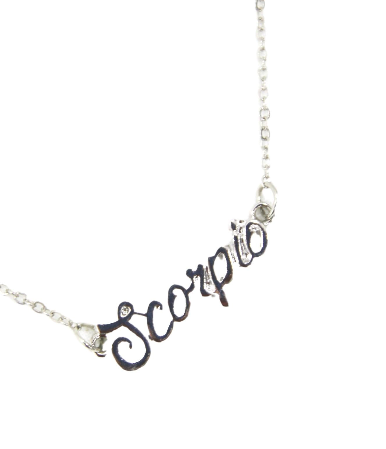 Silver Scorpio necklace