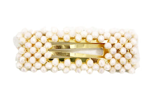 Beads rectangle Hair Clip