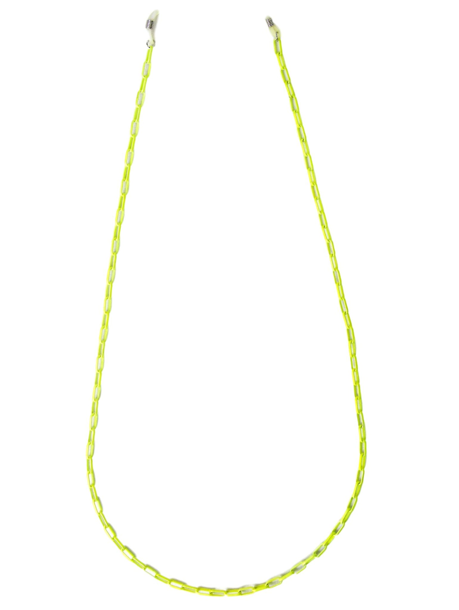 Neon Yellow Coated Sunglasses Chain