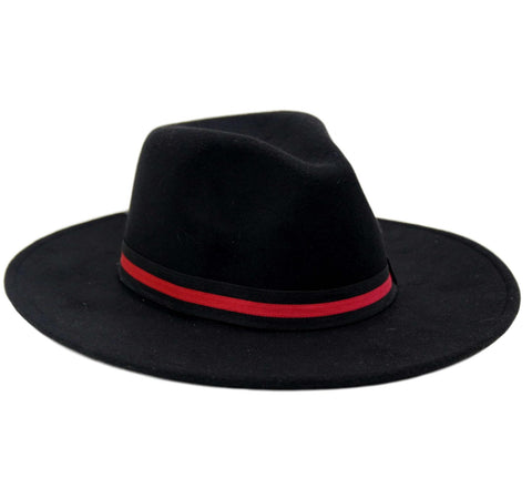 Red Stripe Fedora