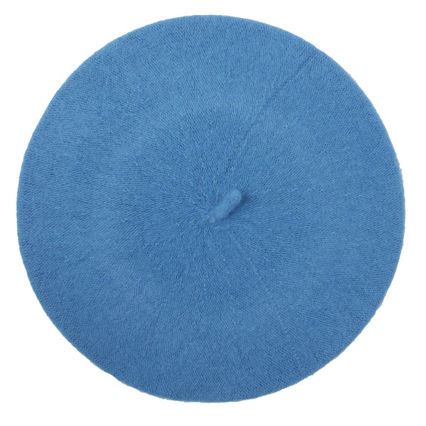 Light Blue Felt Beret